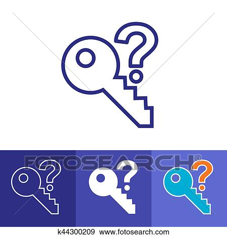 Stock Illustration Of Password Hint Icon With Question Mark