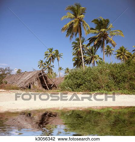 Stock Photo The Shack On Beach Fotosearch Search Photography Print