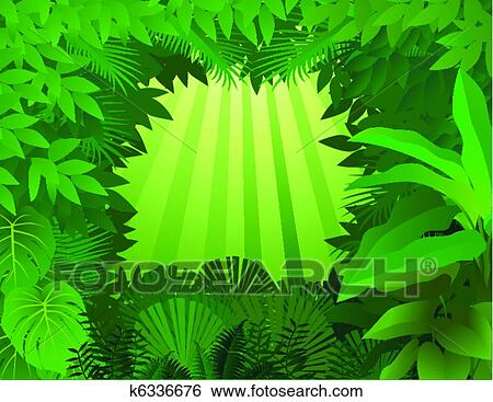 clip art of tropical rainforest background k6336676 search clipart