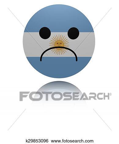 アルゼンチン 悲しい アイコン で 反射 イラスト イラスト