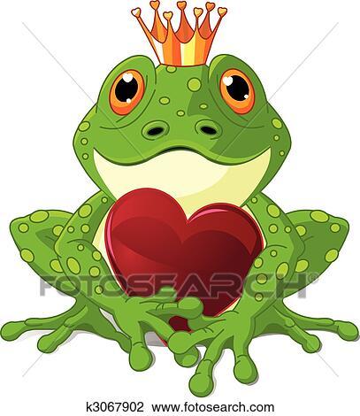 Frosch, mit, herz Clipart   k3067902   Fotosearch