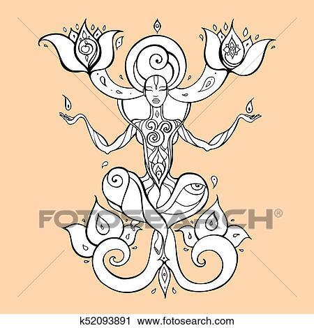 Meditation Yoga Silhouette Clipart K52093891 Fotosearch