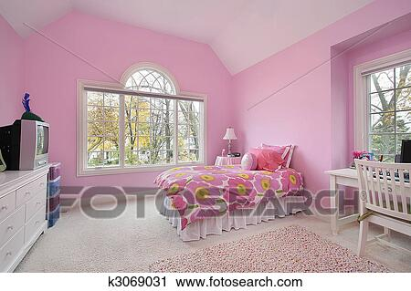 Stock Fotografie - rosa, zimmer mädchen k3069031 - Suche Stockfotos ...