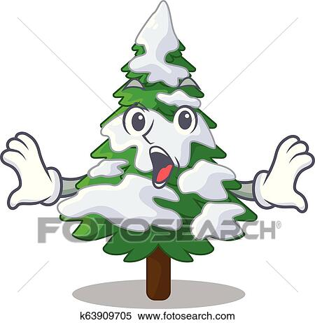 Surprised Realistic Fir Tree In Snow Mascot Clipart K63909705 Fotosearch For your older kids or ones that want a challenge, try handing them. fotosearch
