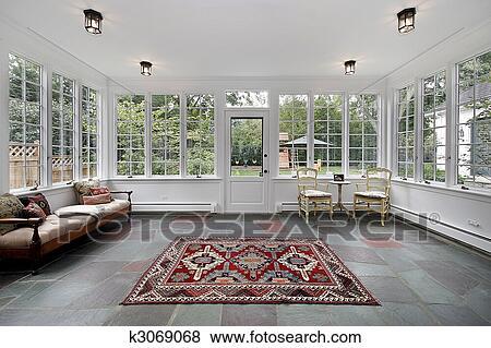 Immagini veranda con bluestone piastrella k3069068 cerca