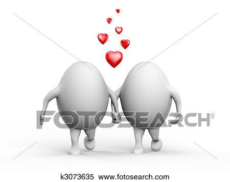 かわいい 恋人 の インテリ 特徴 恋愛中である イラスト K3073635