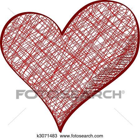 Drawn Heart Clipart K3071483