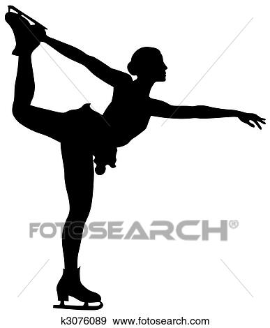 clip art of figure skating k3076089 search clipart illustration rh fotosearch com figure skating clipart free figure skate images clip art
