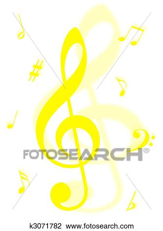 Music symbols Drawing