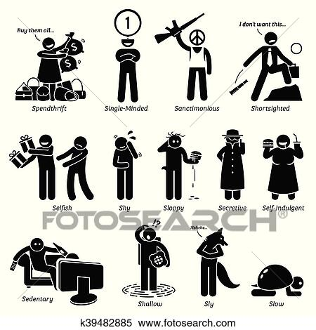 clipart of negative character traits k39482885 search clip art