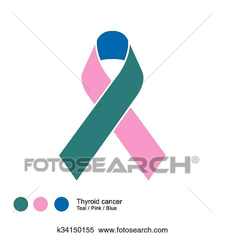 Clipart Of Thyroid Cancer Ribbon K34150155