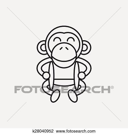 Toy Monkey Icon Clipart