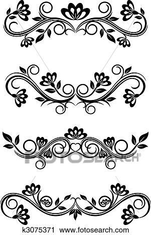 Clipart of Vintage frames k3075371 - Search Clip Art, Illustration ...