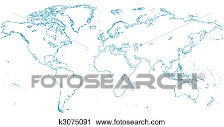 Clipart of world map continents k3075091 search clip art clipart world map continents fotosearch search clip art illustration murals gumiabroncs Choice Image