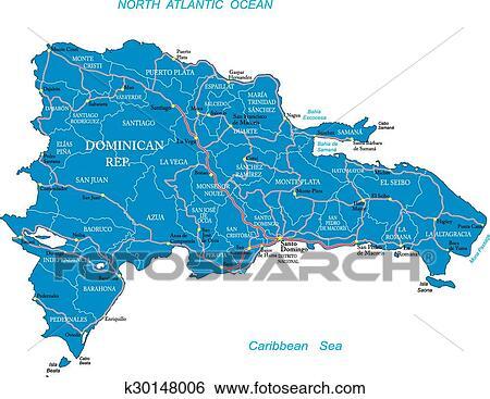 Clip Art of Dominican Republic map k30148006 - Search Clipart ...