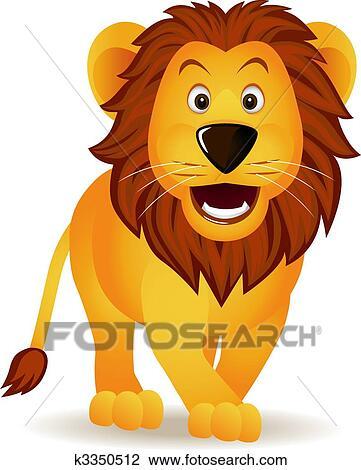 Funny lion cartoon Clipart | k3350512 | Fotosearch