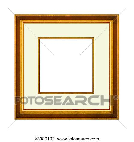 Clip Art of Picture Frame with mount k3080102 - Search Clipart ...