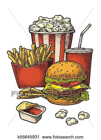 Hamburger clipart hotdog, Hamburger hotdog Transparent FREE for download on  WebStockReview 2020