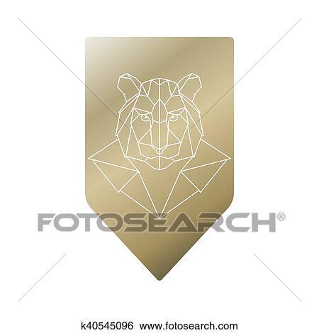 Clipart Tigre Géométrique Tête K40545096 Recherchez Des