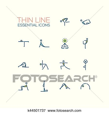 Clip Art Of Yoga Poses
