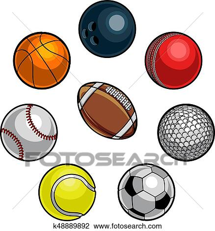 clipart of sports balls set k48889892 search clip art rh fotosearch com  clipart images of sports balls