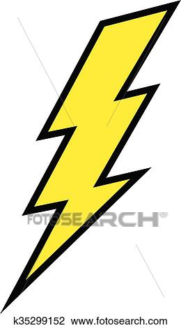 clipart of lightning bolt vector icon k35299152 search clip art rh fotosearch com lightning bolt clip art images lightning bolt clip art blue