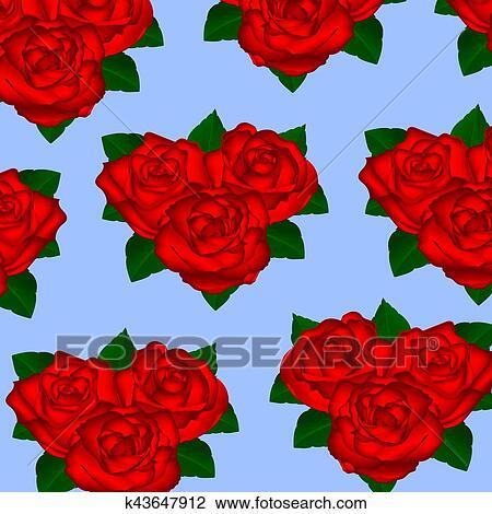 Papel Parede Rosas Vermelhas Ligado Um Fundo Branco Com