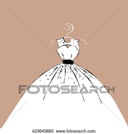 Vestido Desenho Desenho K23643683 Fotosearch