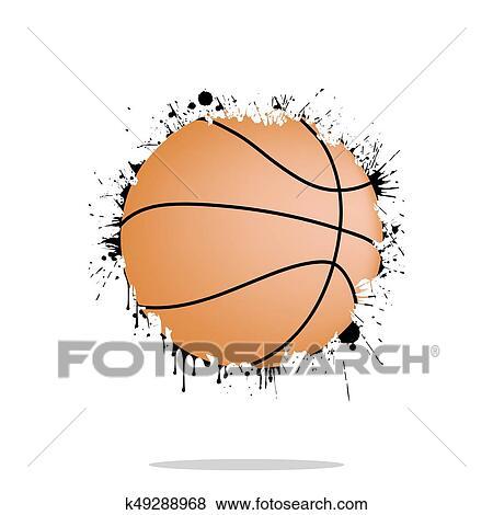 Abstract Basketball Clip Art
