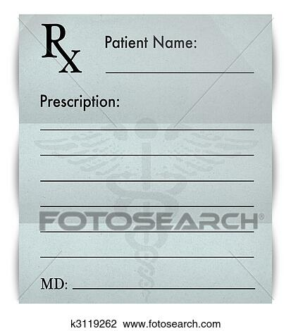 A Blank Prescription Form