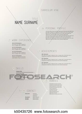 Creative simple curriculum vitae template on grey background. Clip on art paintings, art thank you letters, art best resume, art writing, art recommendation letter, art address, art profile,