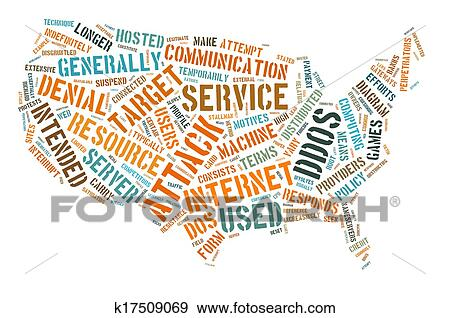 DDoS Attack Concept on the USA Stock Photo | k17509069 ...