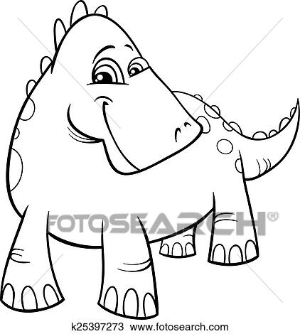 - Dinosaur Or Dragon Coloring Page Clipart K25397273 Fotosearch