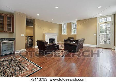 Stock Photo Of Foyer With Cherry Wood Floors K3113753 Search Stock