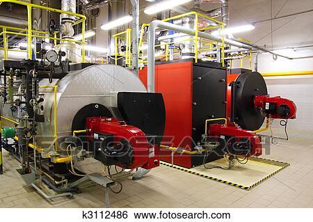 Stock Bilder - gas, dampfkessel, in, gas, heizungskeller k3112486 ...