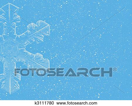 Stock Illustrations Of Lite Blue Snowflakes On Blue Background