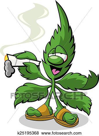 Clip Art - marijuana, mascotte k25195368 - Cerca Clipart ...