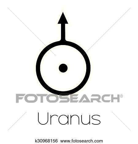 Clip Art Of Planet Symbols Uranus K30968156 Search Clipart
