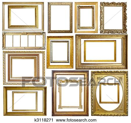 Stock Photography Of Set Of Vintage Gold Picture Frame K3118271
