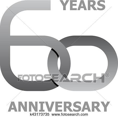 Clipart Of 60 Years Anniversary Symbol K43173735 Search Clip Art