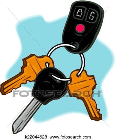 Car Keys Clip Art | k22044528 | Fotosearch