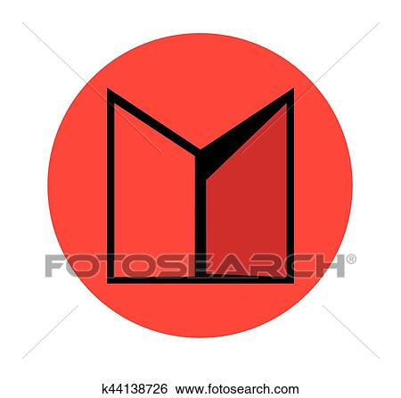 Clip Art Of Double Door Icon Design K44138726 Search Clipart