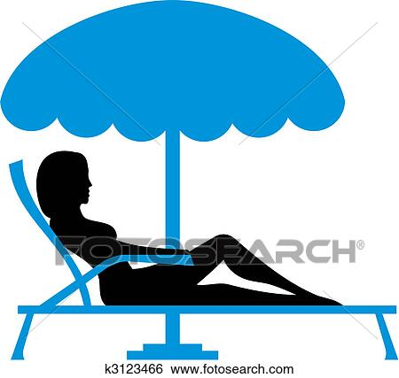 clip art of girl sunbathing vector k3123466 search clipart rh fotosearch com  person sunbathing clipart