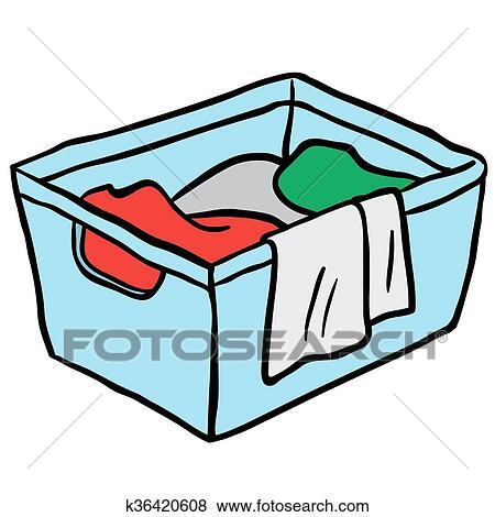 clip art of laundry basket k36420608 search clipart illustration rh fotosearch com clipart laundry basket clipart of laundry baskets