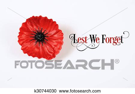 Stock Photography Of Lest We Forget Red Flanders Poppy Lapel Pin