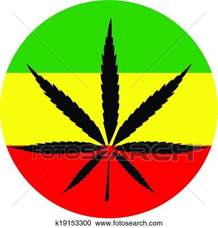 clipart of rasta colors marijuana k19153300 search clip art