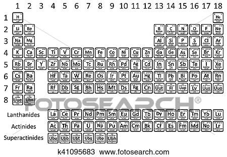 Clipart tabla peridica element k41095683 buscar clip art tabla peridica elemento blanco fondo vector illustration urtaz Choice Image