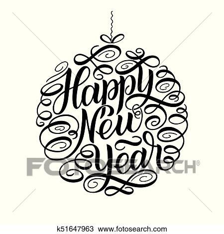 Happy New Year Lettering Design 42