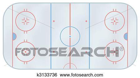 Clipart patinoire hockey glace k3133736 recherchez des cliparts des illustrations des - Dessin patinoire ...