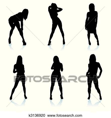 Sexy lady silhouette